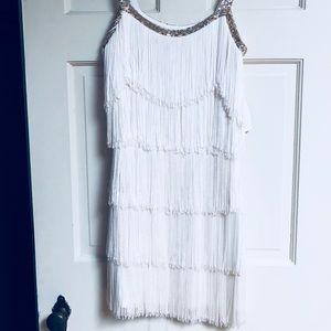 Ivory fringe dress